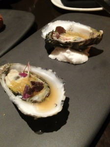 Oysters with tequila & lime