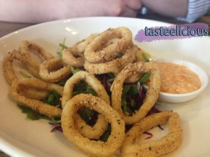 Capital Kitchen - Southern Style Calamari with a Red Cabbage, Fennel and Rocket Salad with Romesco Sauce and Lime