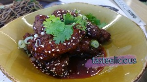 Korean Fried Wings w Honey, Garlic & Sesame